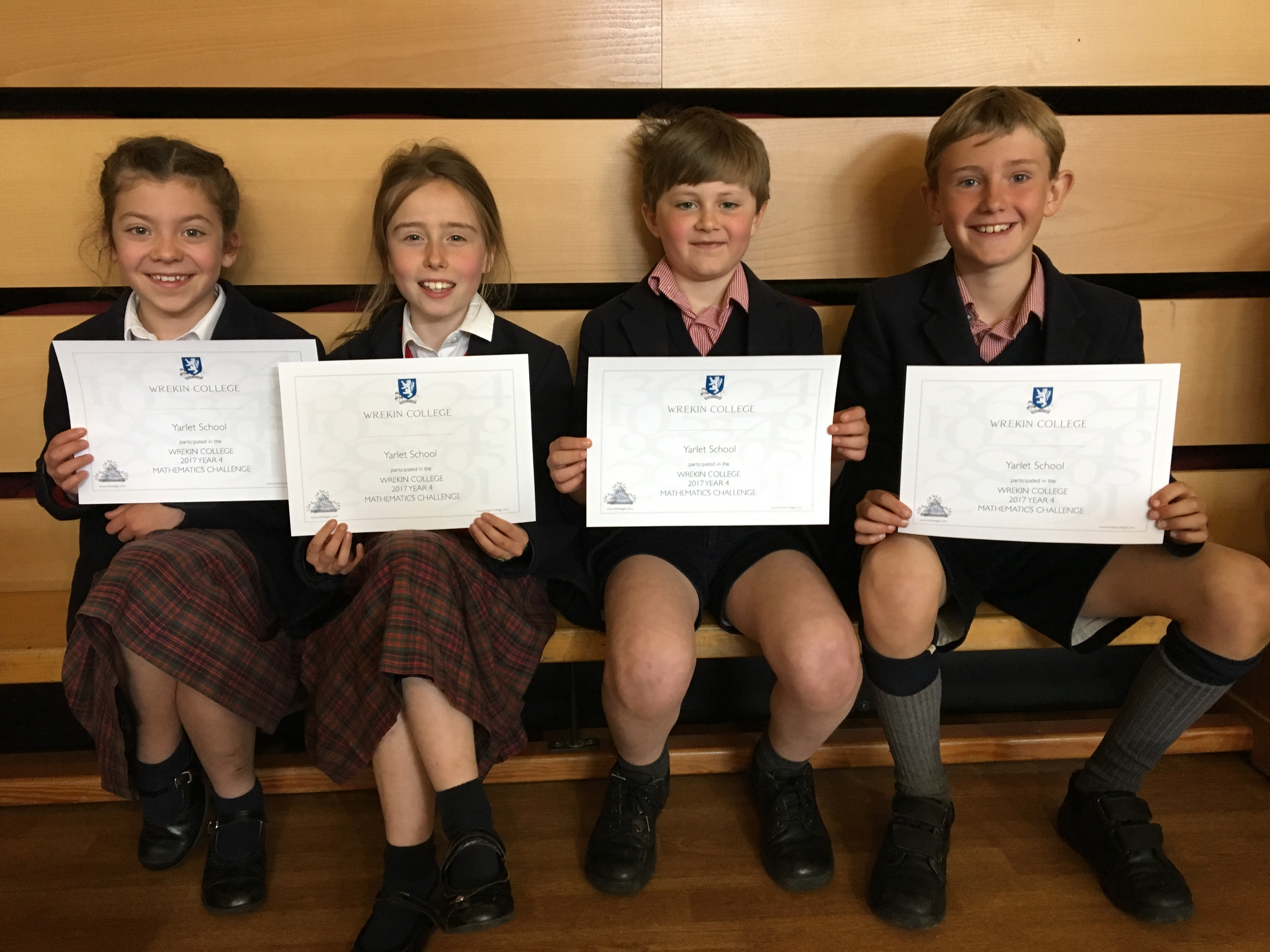 Form 4 Wrekin Maths Challenge