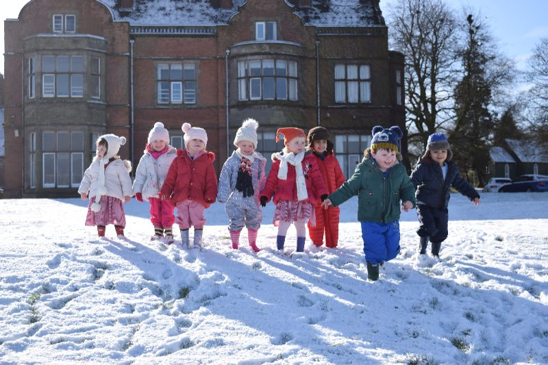 Nursery Enjoying the Snow