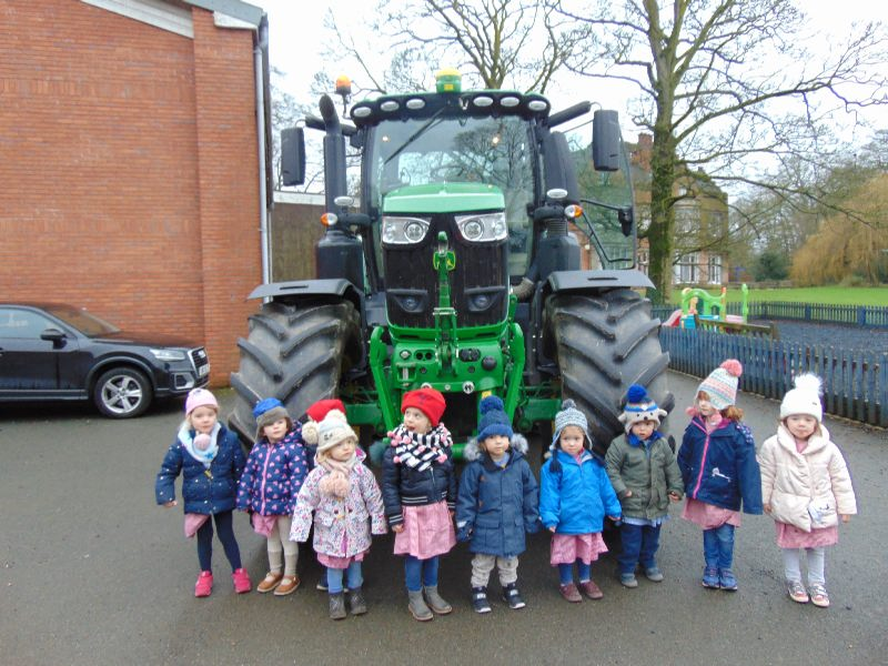 Nursery Tractor Visit Y Sir and Face Book Feb 2019
